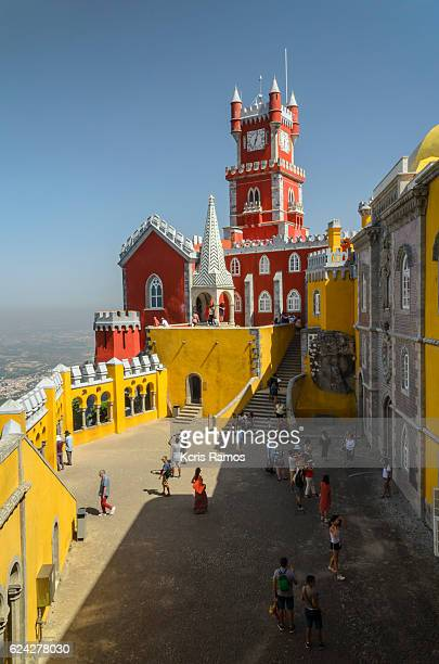 Side of the Pena palace in Sintra Portugal
