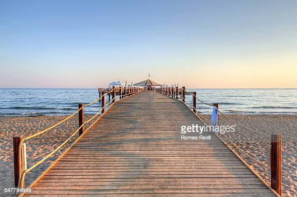 Side - pier in the sunset