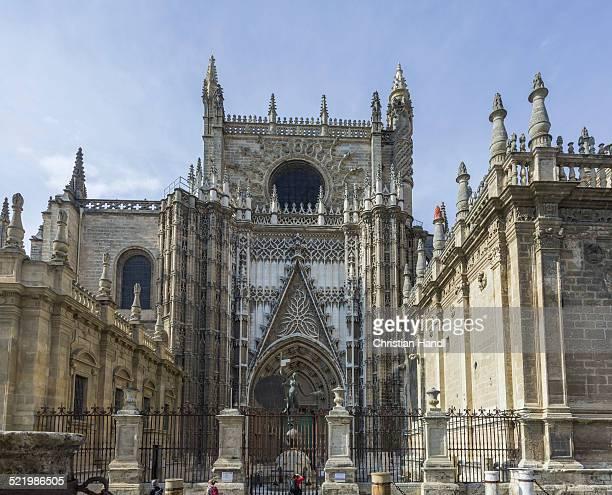 Side portal of Santa Maria de la Sede, Seville Cathedral, Seville, Seville province, Andalucia, Spain