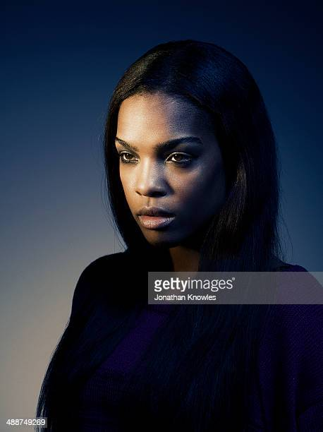 Side portrait of a dark skinned female