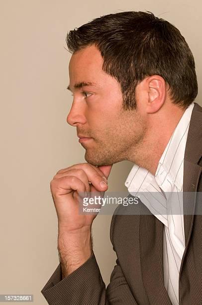 geschäftsmann profil - aktmodell mann stock-fotos und bilder