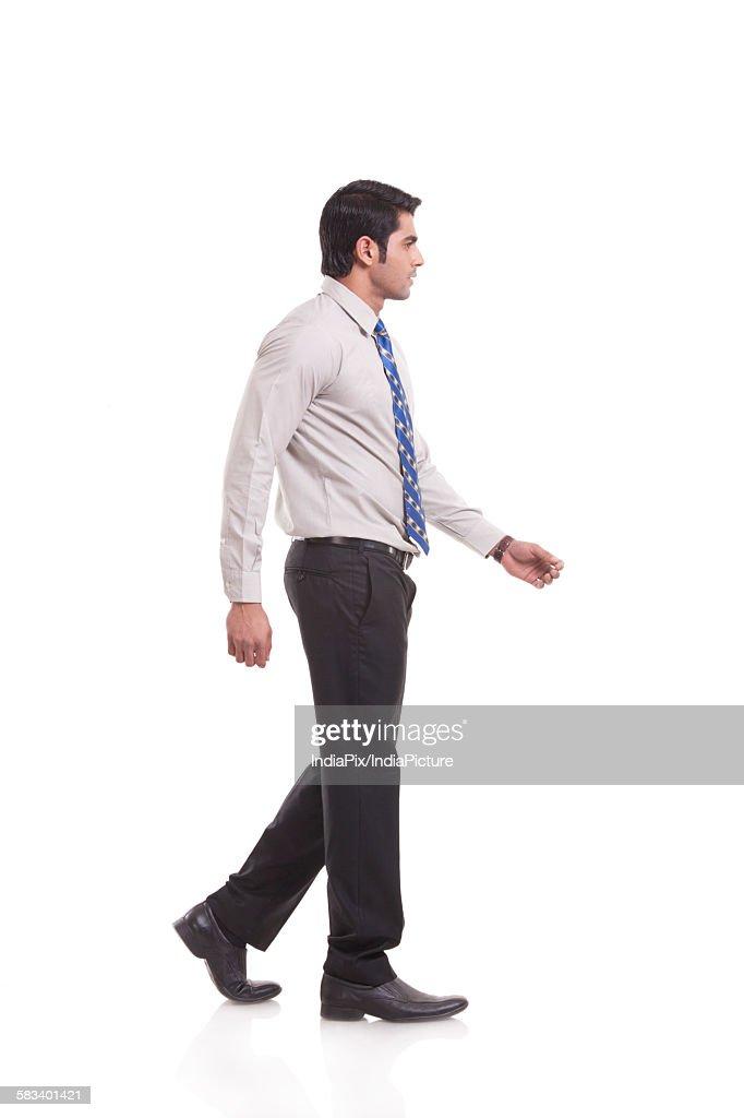 Side profile of a male executive : Stock Photo