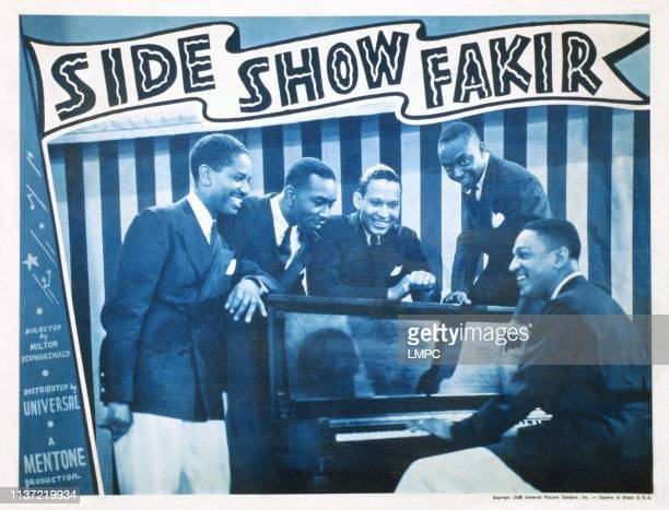 Side Show Fakir, US lobbycard, the Charioteers, 1938.