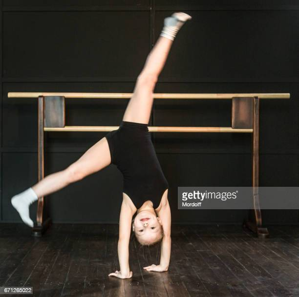 side somersault - little russian girls stock photos and pictures