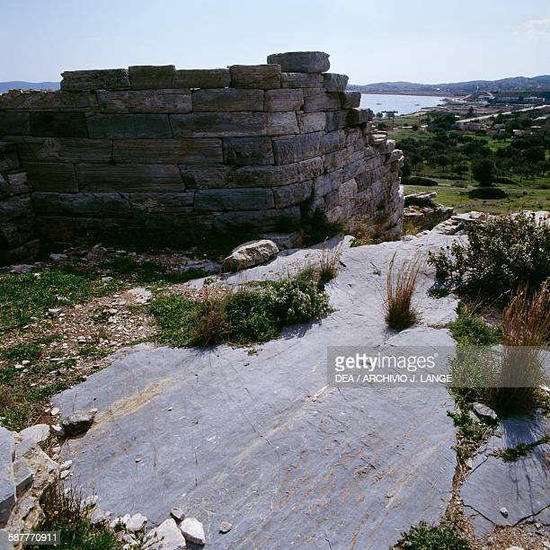 Side structure of the Theatre ancient city of Thoricus Attica Greece Greek civilisation 6th century BC