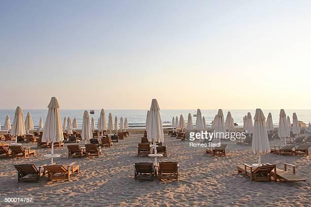 Side - sunset beach symmetry
