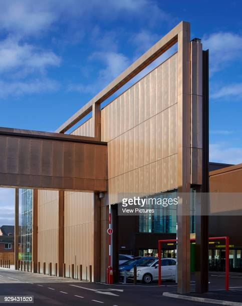 Side view along facade with car park entrance Waitrose Chester Chester United Kingdom Architect Broadway Malyan Limited 2015