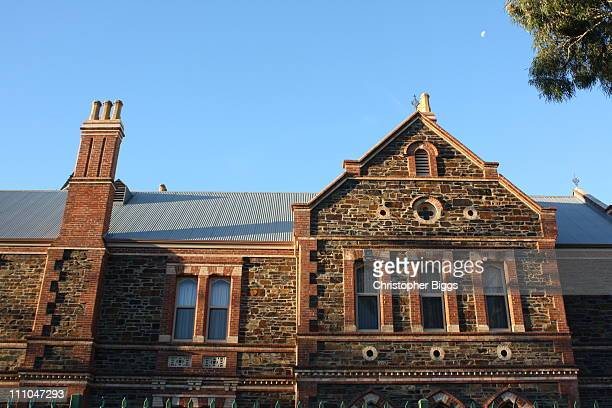 Side view Hebart Hall Lutheran College 104 Jeffcott Street North Adelaide The building is a heritagelisted and was built in 1882