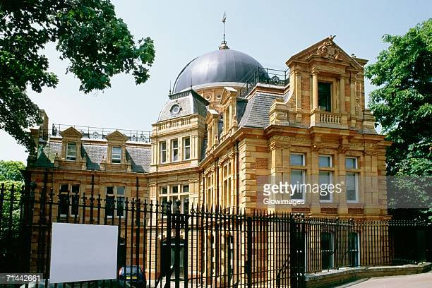 Side view of a domed building adjacent to Royal Observatory, Greenwich, England