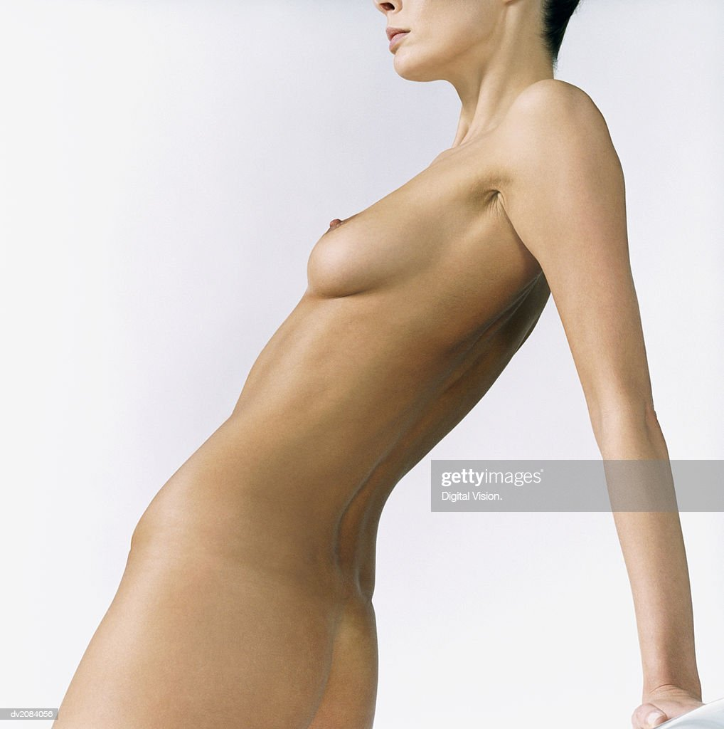 Side View of a Naked Woman's Torso : Stock Photo