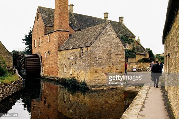 Side view of an old mill, Bourton-on-the-water, England