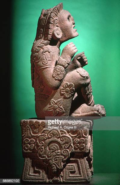 Side View of Aztec Statue of Xochipilli