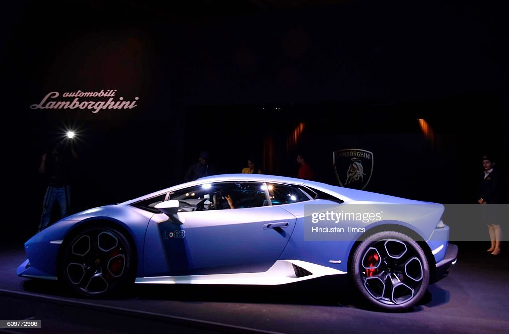 Side View Of Lamborghini Huracan Special Edition Avio During Its