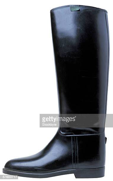 side view of leather boot