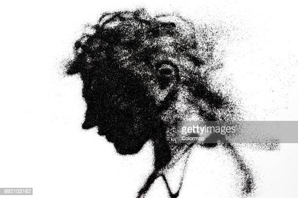 Side view of man looking down