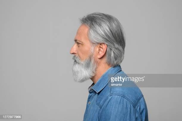 visão lateral do homem maduro - só um homem maduro - fotografias e filmes do acervo