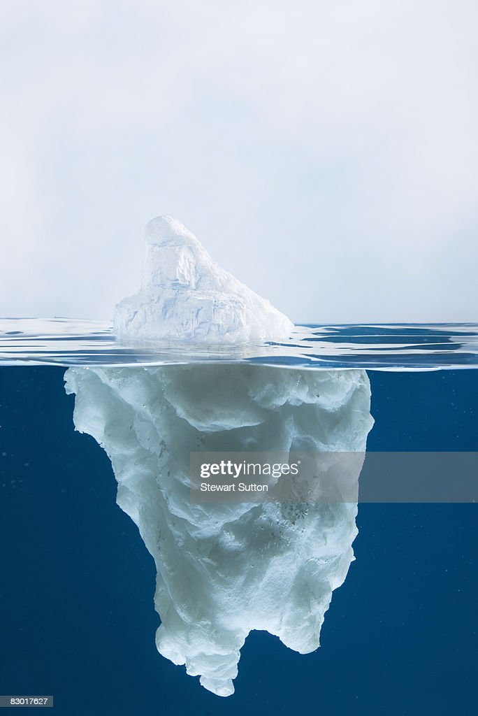 side view of model iceberg : Stock Photo