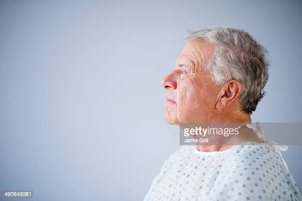 Side view of senior patient, Jersey City, New Jersey, USA