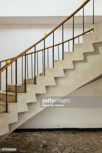 Side view of stairs inside a building