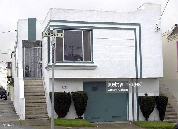 A side view of the twostory home bought by OJ Simpson for his mother Eunice October 27 2000 in San Francisco The city's sheriff's department posted a...