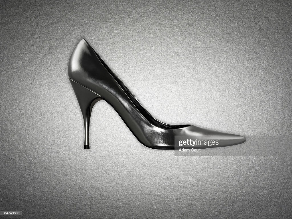Side view of womens shoe : Stock Photo