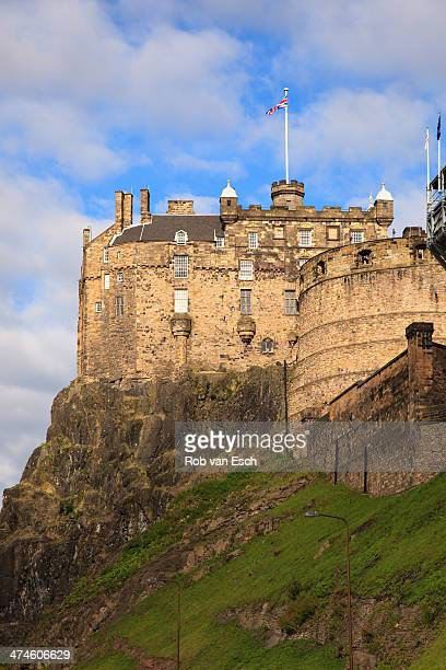 CONTENT] Side view on Edinburgh Castle on a bright sunny morning with clouds in blue sky Edinburgh Castle is a historic fortress which dominates the...