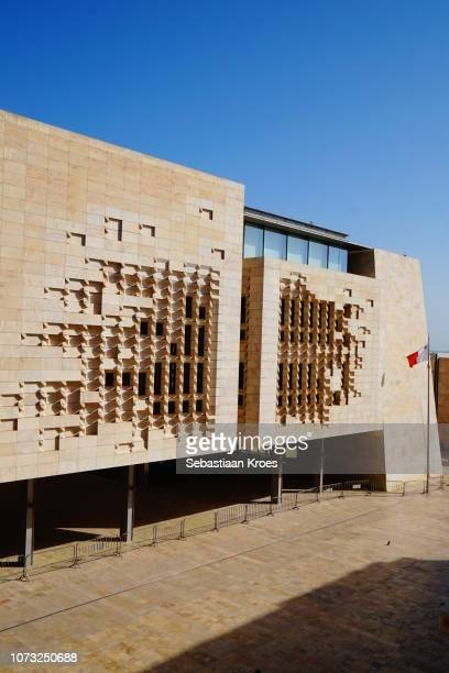 Side view on the New Parliament House, Valletta, Malta