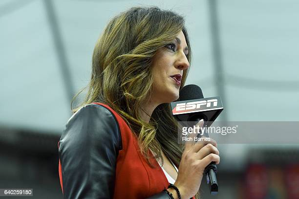 ESPN sideline reporter Allison Williams prior to the game between the Florida State Seminoles and the Syracuse Orange at the Carrier Dome on January...