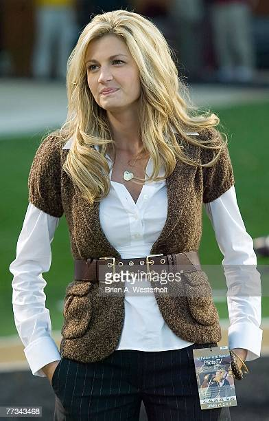 ESPN sideline reporter Erin Andrews prior to the start of the game between the Wake Forest Demon Deacons and the Florida State Seminoles at BBT Field...