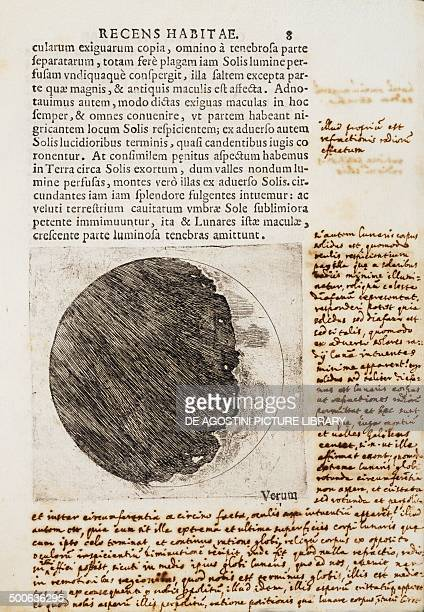 Sidereus Nuncius with drawings of the phases and surface of the Moon manuscript by Galileo Galilei Venice Florence Biblioteca Nazionale Centrale