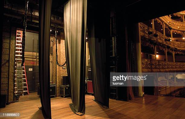 side-scenes of a classical theatre - backstage stock pictures, royalty-free photos & images