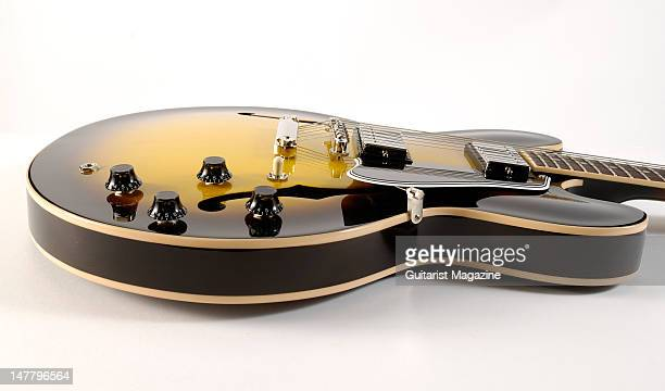 A sideview of a Gibson Custom ES335 electric guitar during a studio shoot for Guitarist Magazine/Future via Getty Images October 22 2008