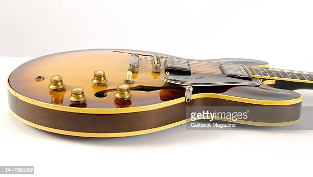 A sideview of a Gibson Original 1961 ES335 electric guitar during a studio shoot for Guitarist Magazine/Future via Getty Images October 22 2008