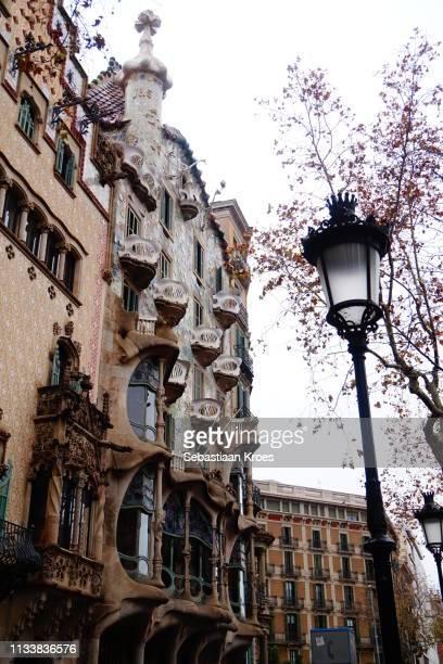 Sideview on Casa Batlló and Casa Amatller, Barcelona, Spain