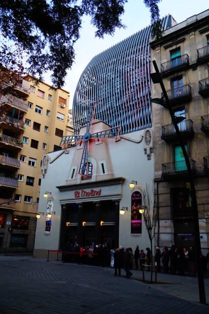 "Sideview on ""El Molino"" Theatre, Barcelona, Spain"
