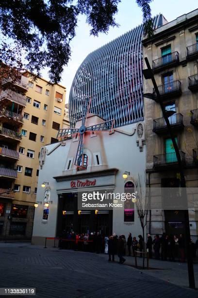 Sideview on 'El Molino' Theatre, Barcelona, Spain