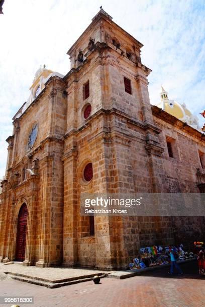 Sideview on the Inglesia de San Pedro Claver, Sunshine, Cartagena, Colombia