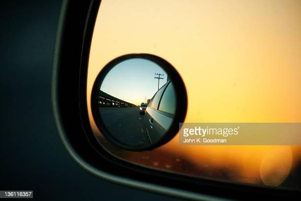 sideview sunset - groothoek stockfoto's en -beelden
