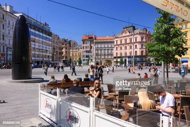 Sidewalk cafe at namesti Svobody, Brno