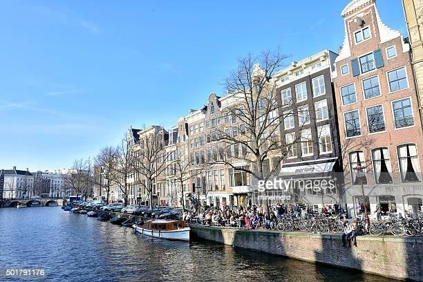 Sidewalk cafe in Amsterdam