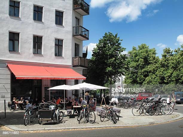 Sidewalk cafe in Berlin, district of Mitte. Berlin, Germany