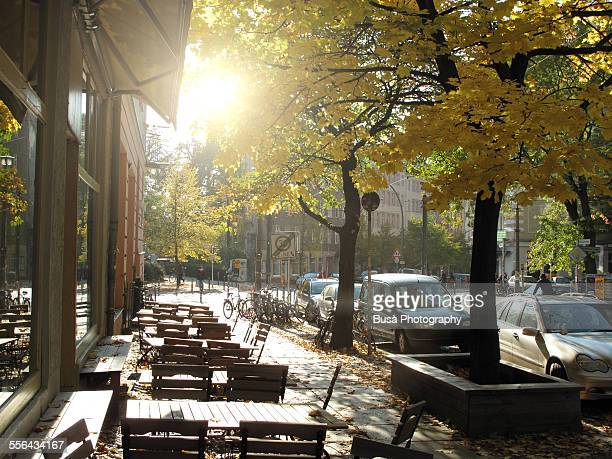 sidewalk cafe in berlin mitte - central berlin stock pictures, royalty-free photos & images