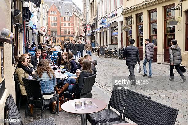 Sidewalk cafe in Brussels