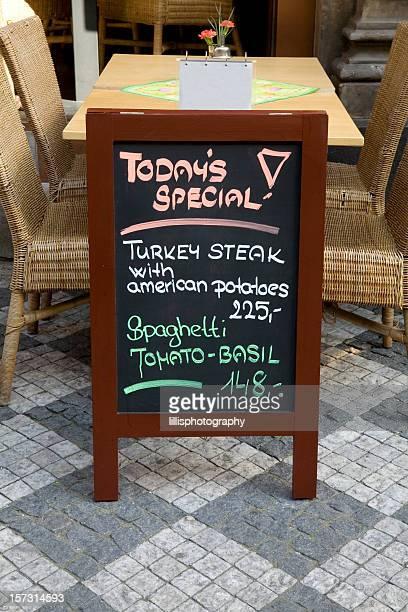 Sidewalk Cafe Menu in English