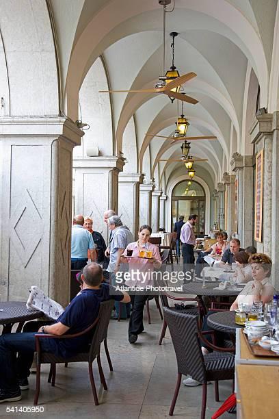 Sidewalk cafes in Old Bolzano