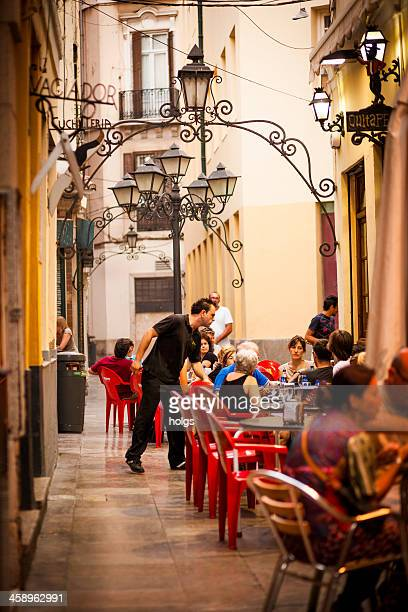 sidewalk cafes malaga, spain - andalucia stock pictures, royalty-free photos & images