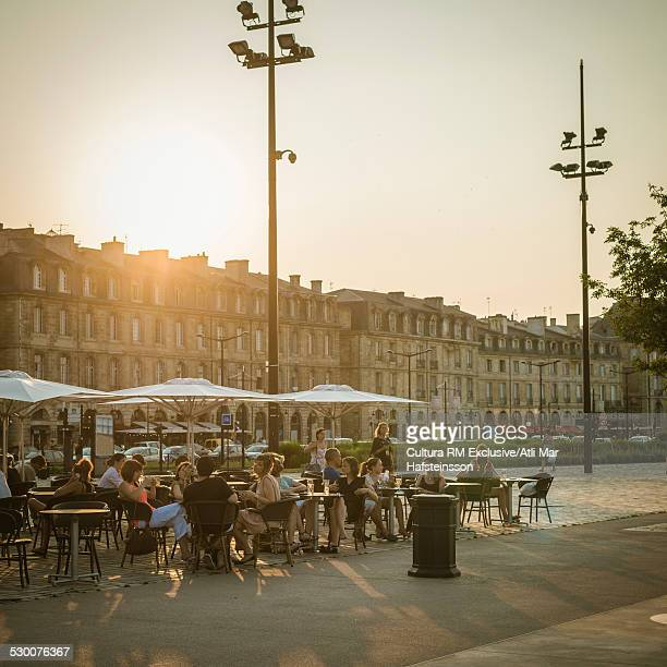 Sidewalk restaurant, Bordeaux, Aquitaine, France