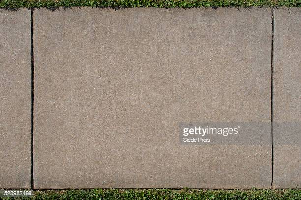 sidewalk section from overhead - sidewalk stock pictures, royalty-free photos & images