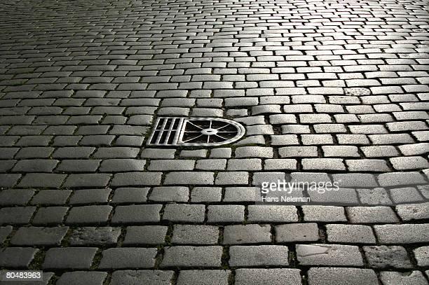 Sidewalk with manhole