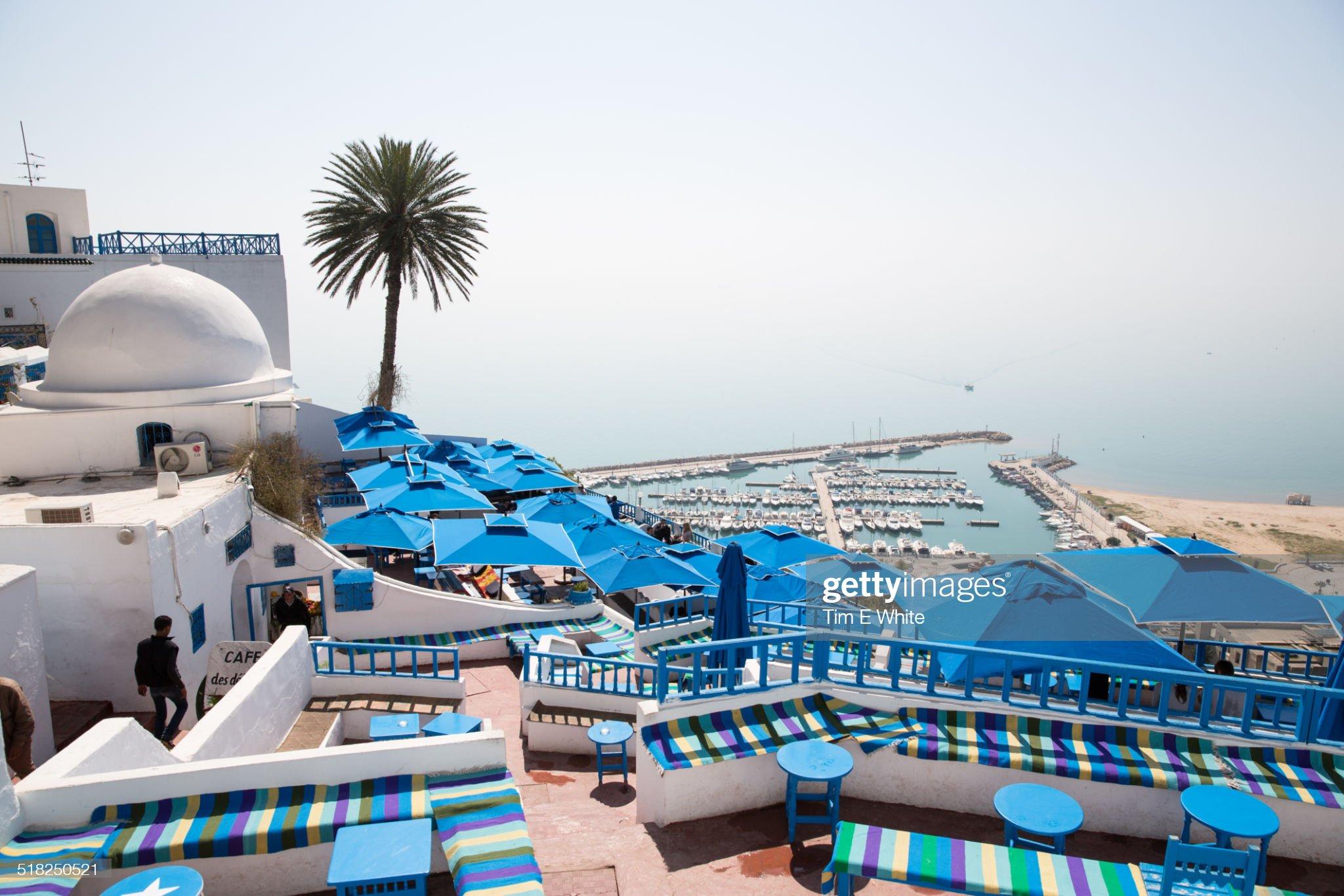 Sidi Bou Said, Carthago, Tunis, Tunisia : Foto stock